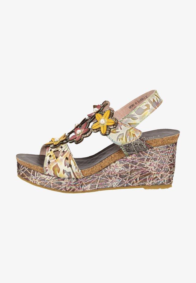 Korkeakorkoiset sandaalit - grey