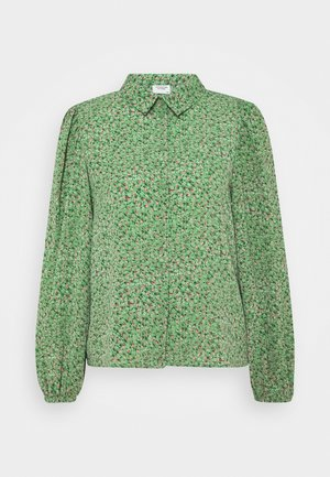 JDYPIPER - Button-down blouse - basil/peachskin