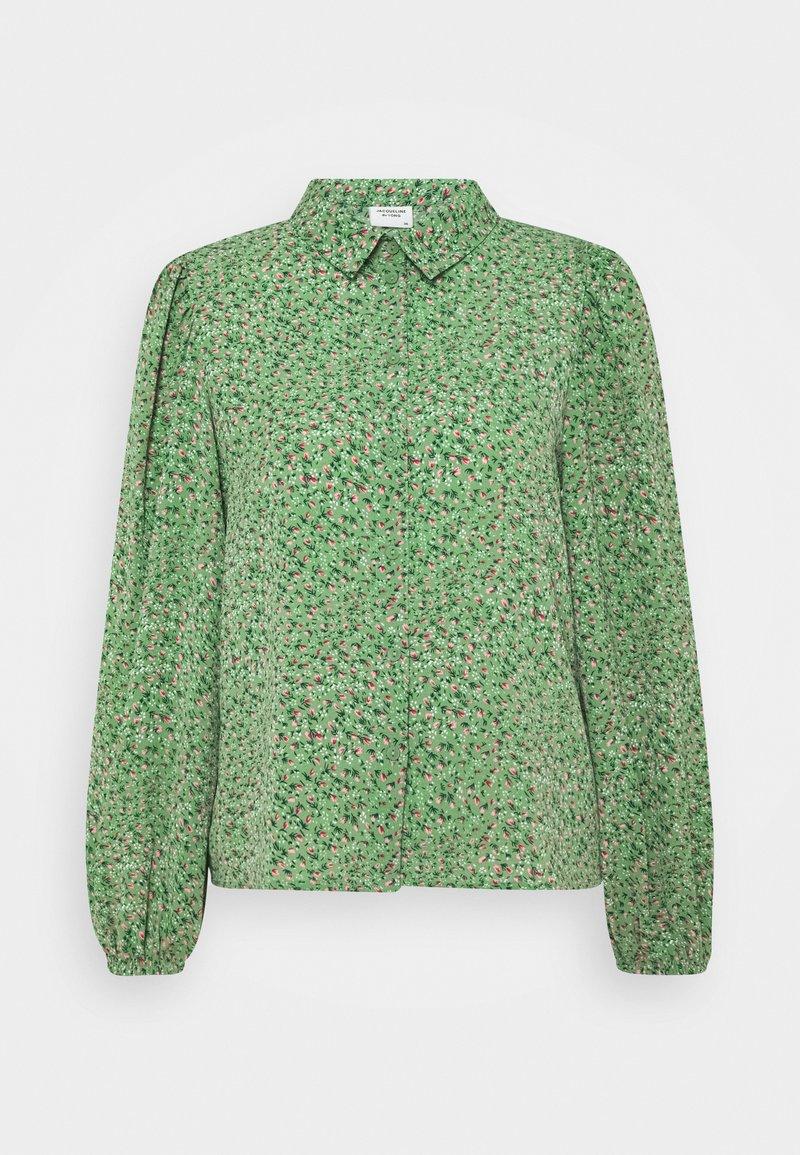 JDY - JDYPIPER - Button-down blouse - basil/peachskin