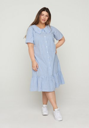 Shirt dress - blue stripe