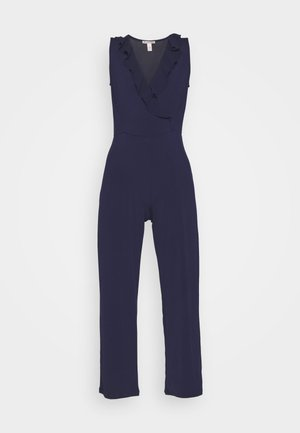 OCCASION - SLEEVELESS VOLANT NECKLINE JUMPSUIT - Overal - evening blue