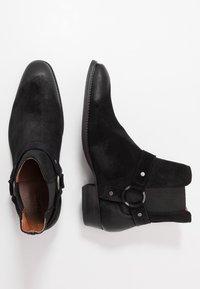 Bianco - BIABEACK WESTERN - Cowboy/biker ankle boot - black - 1