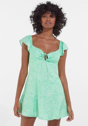 FLORAL PRINT DRESS 01757966 - Day dress - green