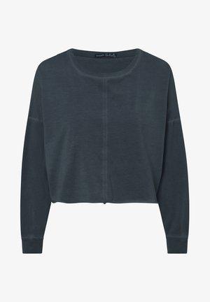 CROPPED  - Long sleeved top - dark blue