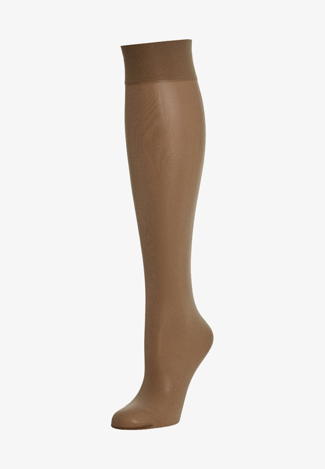 SATIN TOUCH - Knee high socks - caramel