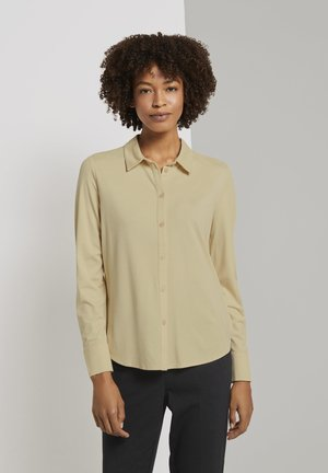 Button-down blouse - light soft sand