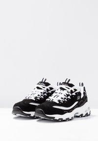 Skechers Sport - D'LITES - Baskets basses - black/white/silver - 4