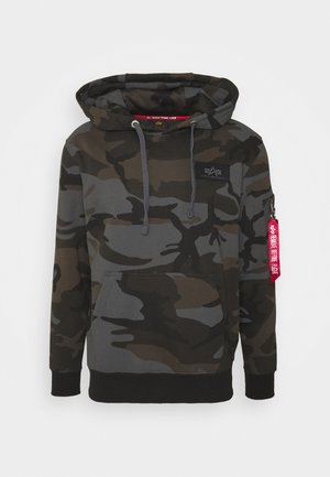 BACK PRINT HOODY CAMO - Sweat à capuche - black