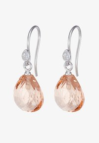 rhodium-coloured/morganite/crystal
