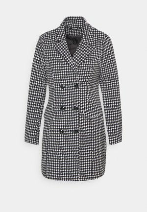 DOUBLE BREASTED DOGTOOTH  - Short coat - black