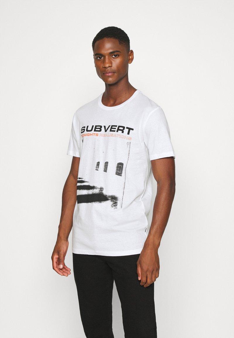 Solid - LORENZ - T-shirt med print - white