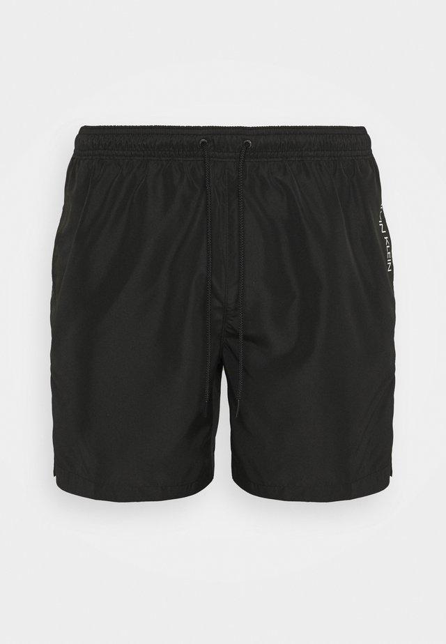 CORE PLACED LOGO MEDIUM DRAWSTRING - Swimming shorts - black/white