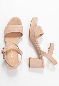 Unisa - NENES - Platform sandals - nude - 3