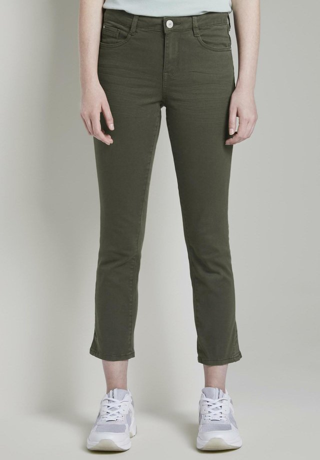 TOM TAILOR ALEXA CROPPED - Slim fit jeans - woodland green