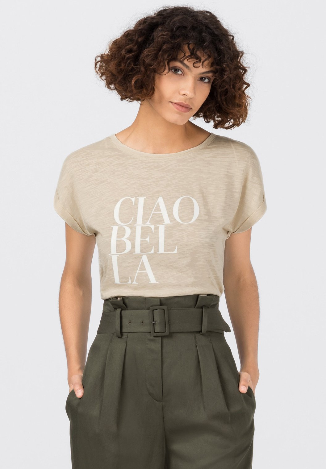 Damen MIT CIAO BELLA PRINT - T-Shirt print