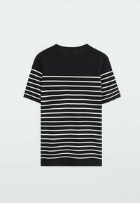 Massimo Dutti - Print T-shirt - blue black denim - 1