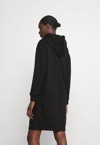 Tommy Hilfiger - SCRIPT HOODIE DRESS - Day dress - black - 2