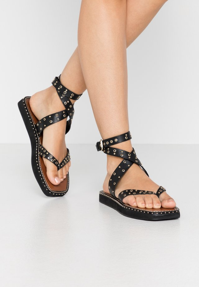 POWER STUD  - Sandalias - black