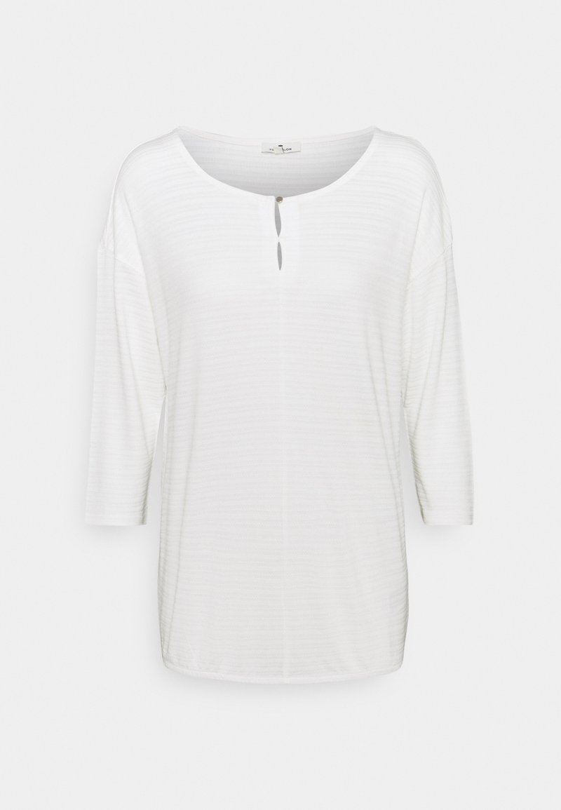TOM TAILOR - STRUCTURE - Long sleeved top - whisper white