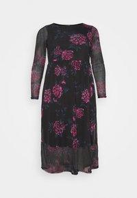 FLORAL TIERED DRESS - Day dress - black