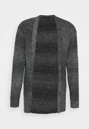 JPRBLAFREE OPEN CARDIGAN - Strickjacke - dark grey melange