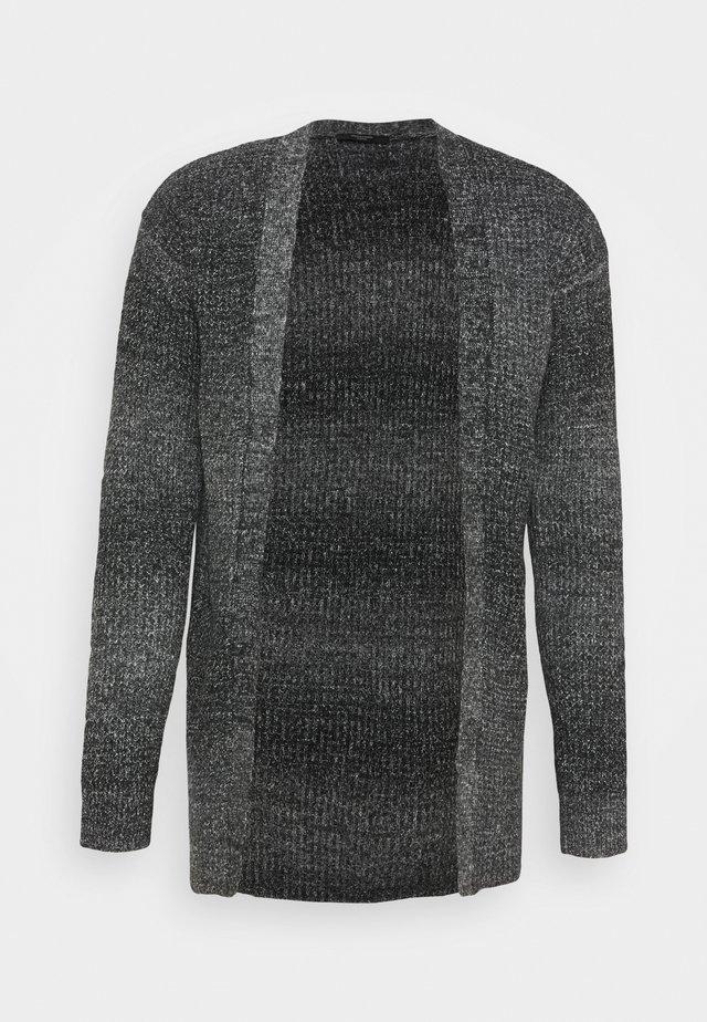 JPRBLAFREE OPEN CARDIGAN - Cardigan - dark grey melange
