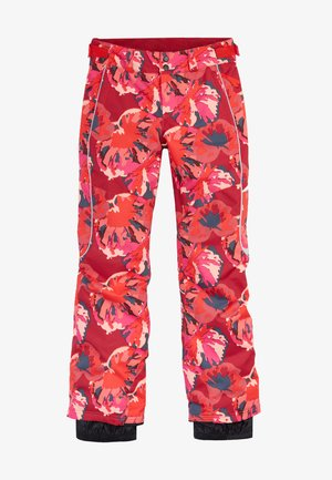 Snow pants - red aop w/ pink or purple