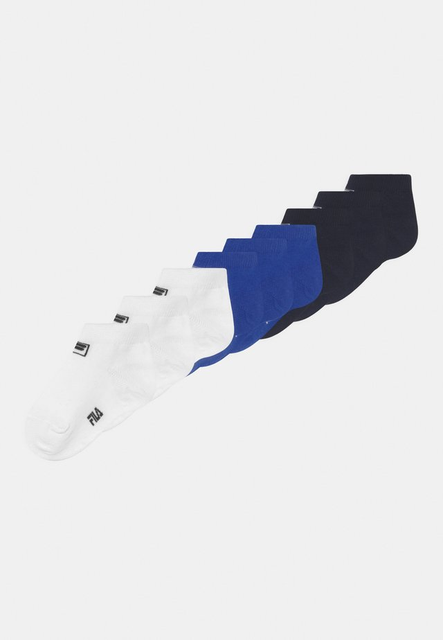 JUNIOR INVISIBLE SOCKS 9 PACK UNISEX - Ponožky - white/blue