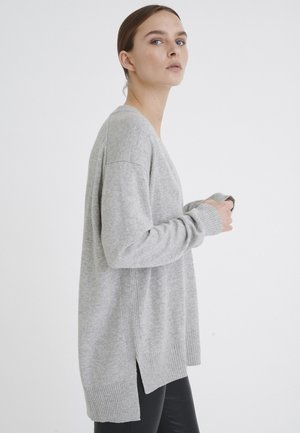IRISIW V-NECK - Jumper - new light grey melange