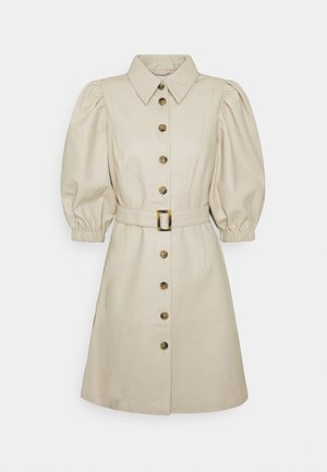 OBJSIF DRESS A FAIR - Shirt dress - sandshell