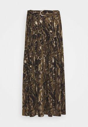 JAMILA - Maxi skirt - olive