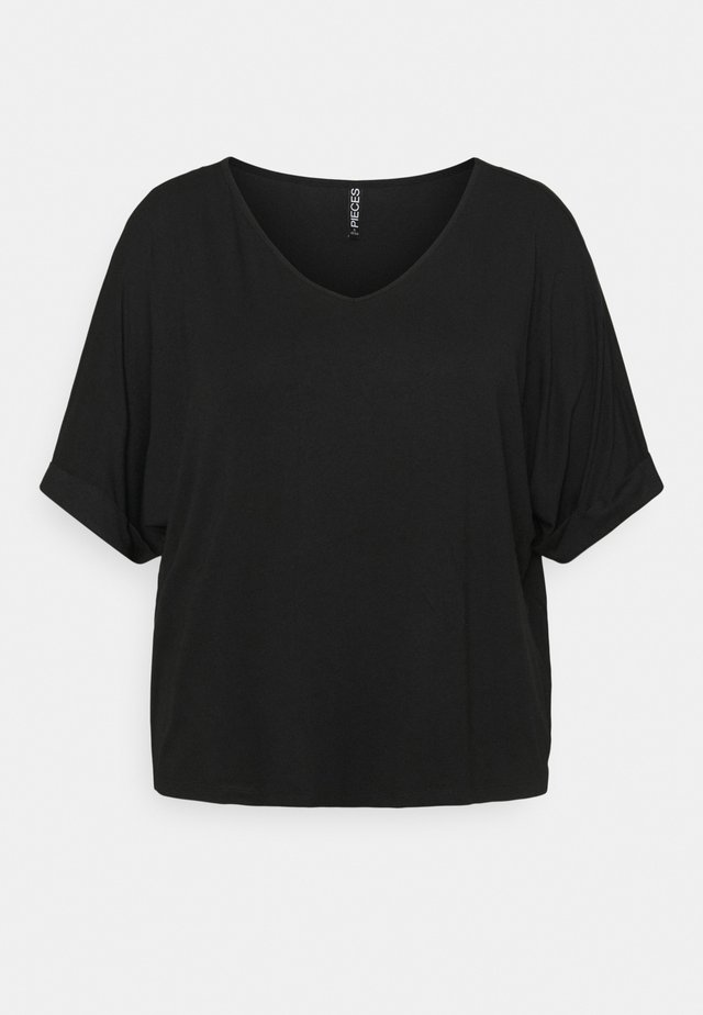 PCNEORA FOLD UP - Basic T-shirt - black