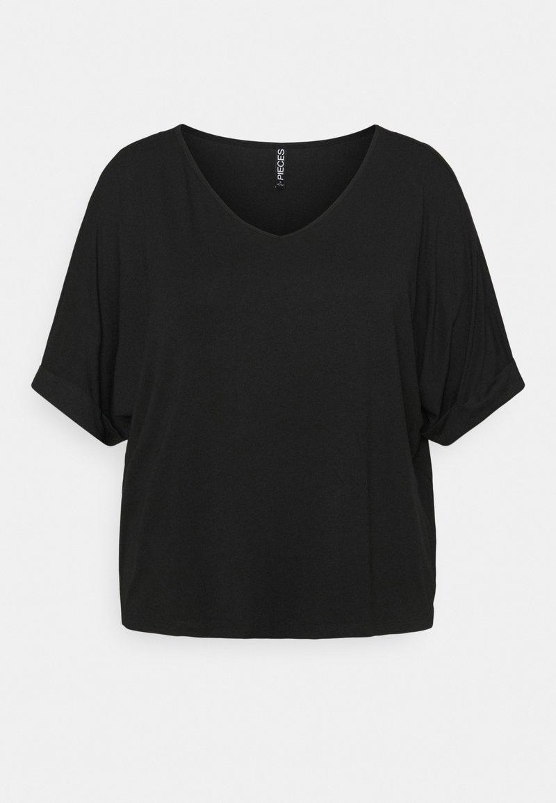 Pieces Curve - PCNEORA FOLD UP - T-shirts - black