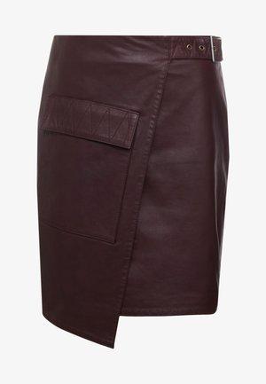 ALMA - Wrap skirt - burgundy