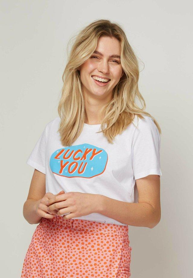 LUCKY YOU - T-shirt print - white