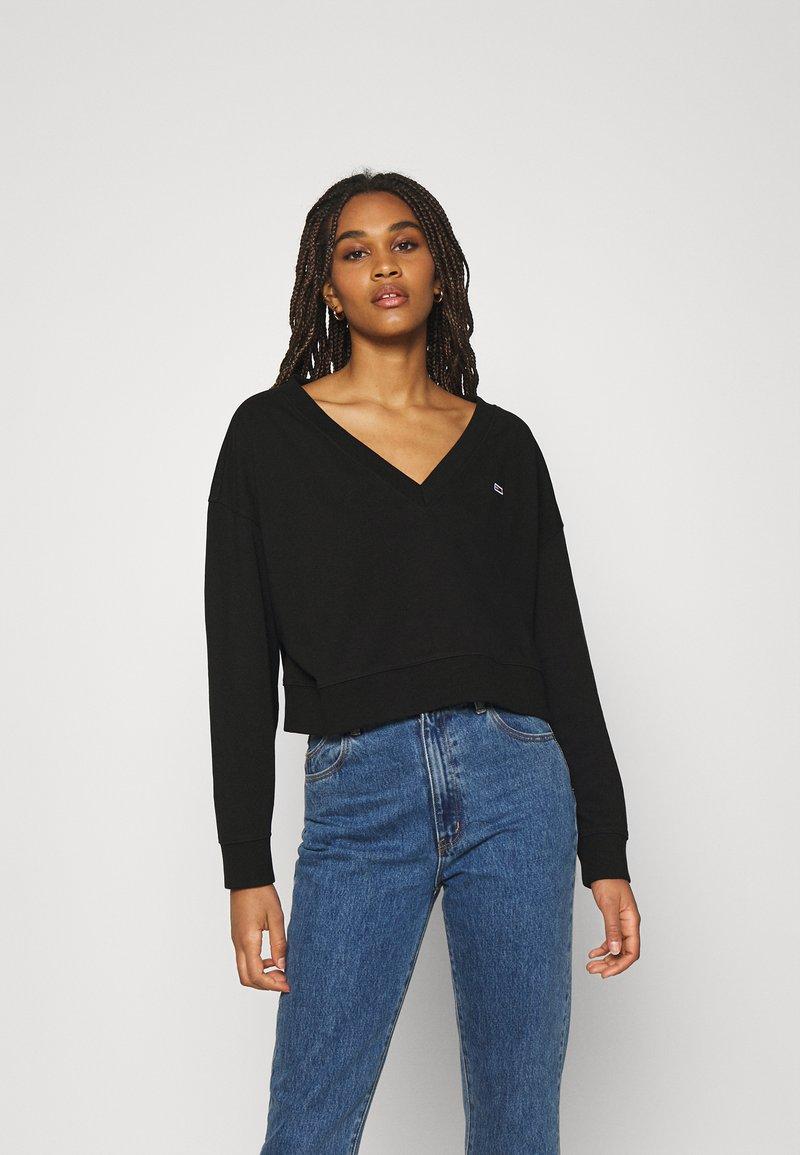 Tommy Jeans - SOFT V NECK - Sweatshirt - black