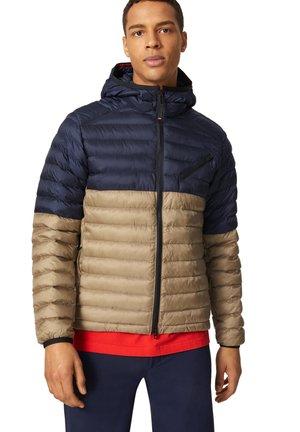Winter jacket - navy blau beige