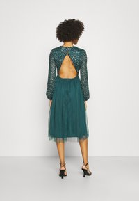Maya Deluxe - CUT OUT BACK DELICATE MIDI DRESS - Cocktail dress / Party dress - deep teal - 2