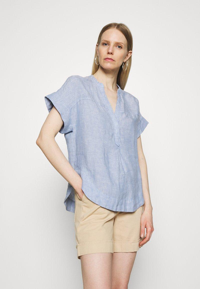 Marks & Spencer London - BLOUSE - T-shirt med print - blue