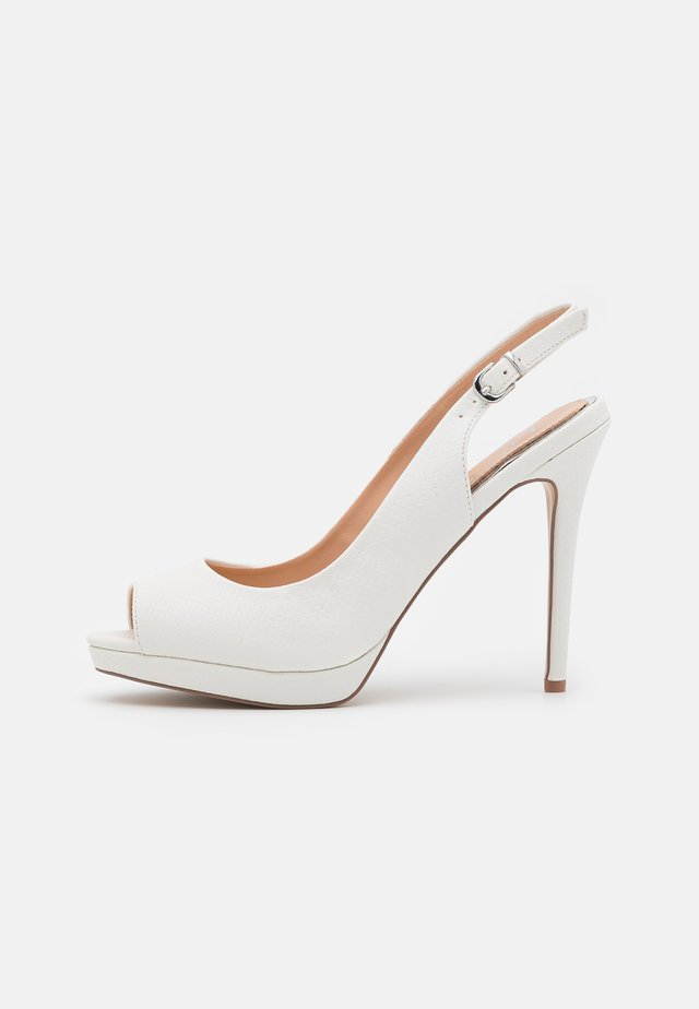 DALLAS - Peeptoe heels - white