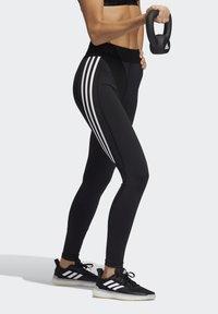 adidas Performance - TECHFIT STRIPES LONG - Medias - black/white - 1