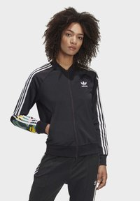 adidas Originals - RACK TOP - Sweatshirt - black - 0