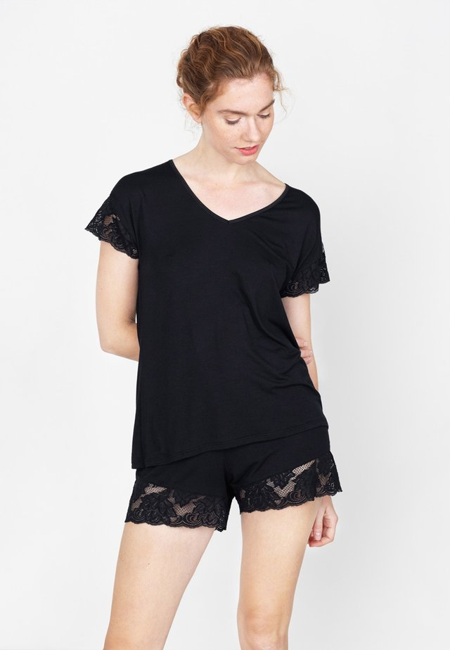 NORA - Pyjamashirt - schwarz