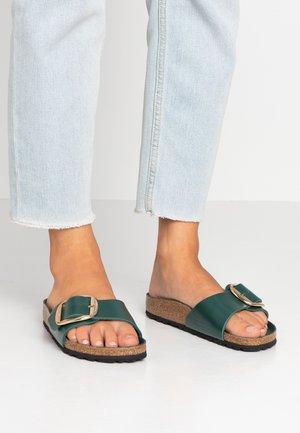 MADRID BIG BUCKLE - Slippers - dark green