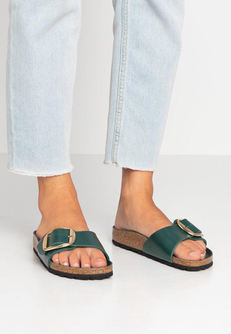 Birkenstock - MADRID BIG BUCKLE - Slippers - dark green