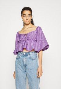 Gina Tricot - BEATRIX BLOUSE - Pitkähihainen paita - purple - 0