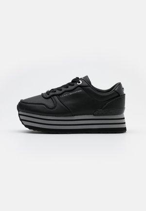 GLITTER FLATFORM  - Trainers - black