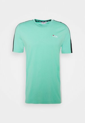 ALTAN TEE - T-shirt con stampa - biscay green/bright white/black