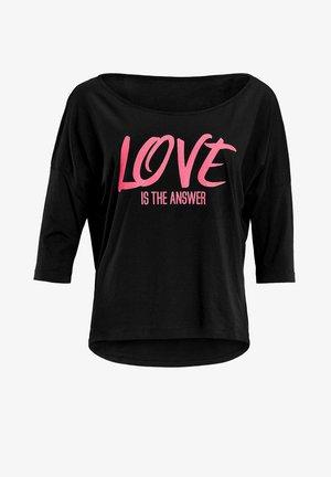 MCS001 ULTRA LIGHT - Long sleeved top - black/glitter/neon pink
