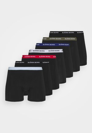 ESSENTIAL BOXER 7 PACK - Culotte - black